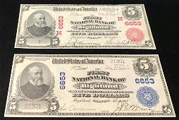 SERIES 1902 FIVE DOLLAR NATIONAL CURRENCY NOTE FIRST