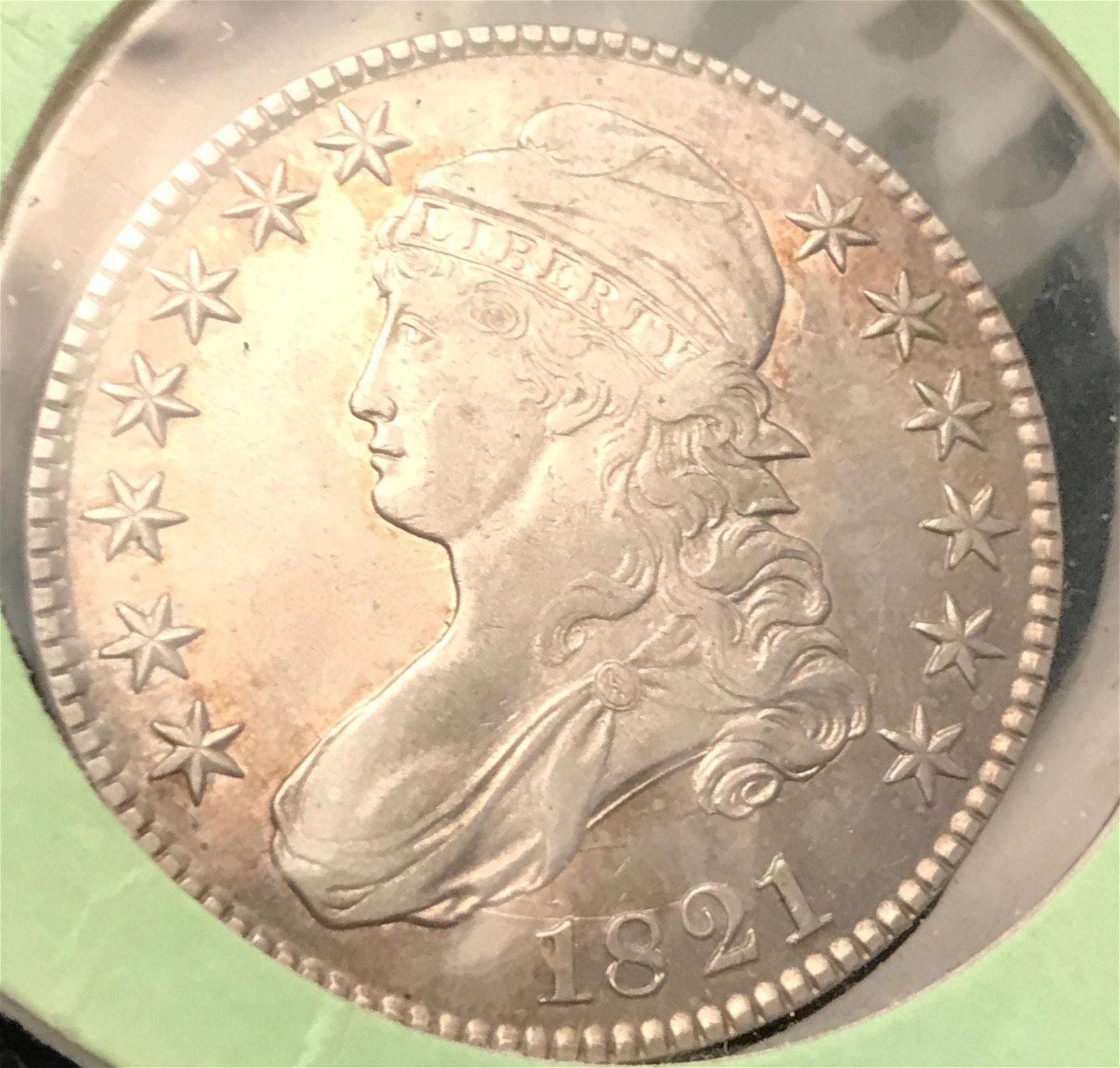 1821 CAPPED BUST HALF DOLLAR *tax exempt*