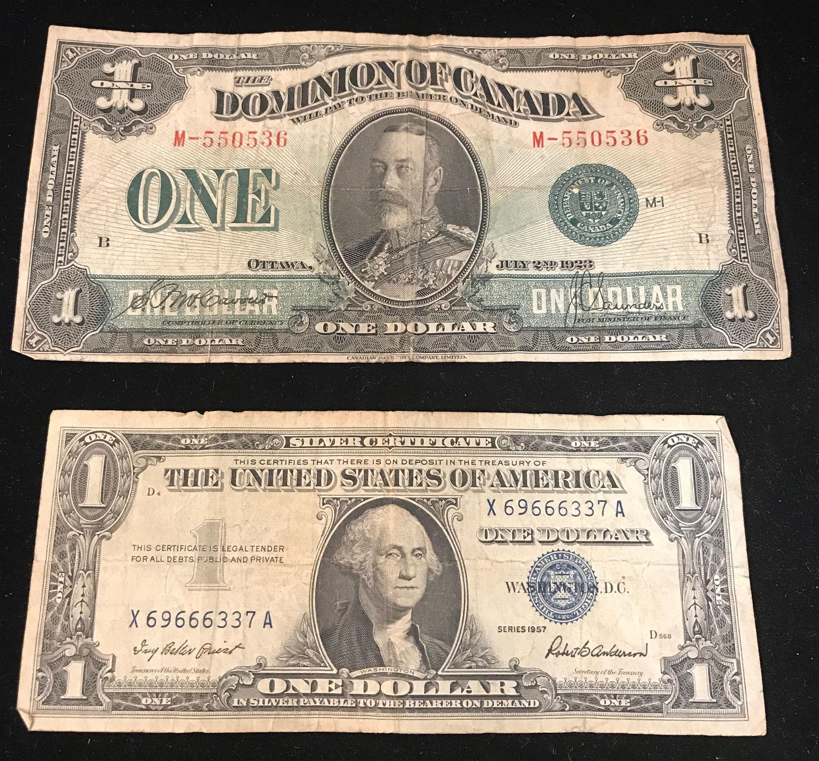 SERIES 1923 CANADIAN ONE DOLLAR BANK NOTE AND SERIES