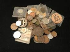 MIXED LOT INCLUDING 1865 3CENT PIECE 1 LIBERTY V AND