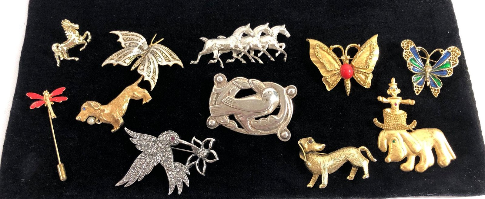 ASSORTED FASHION PINS ~ TWO STERLING SILVER PINS ONE