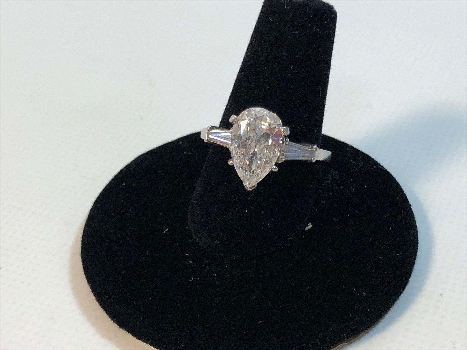 RING MOUNT WITH LOOSE DIAMOND ~ PEAR CUT DIAMOND 1