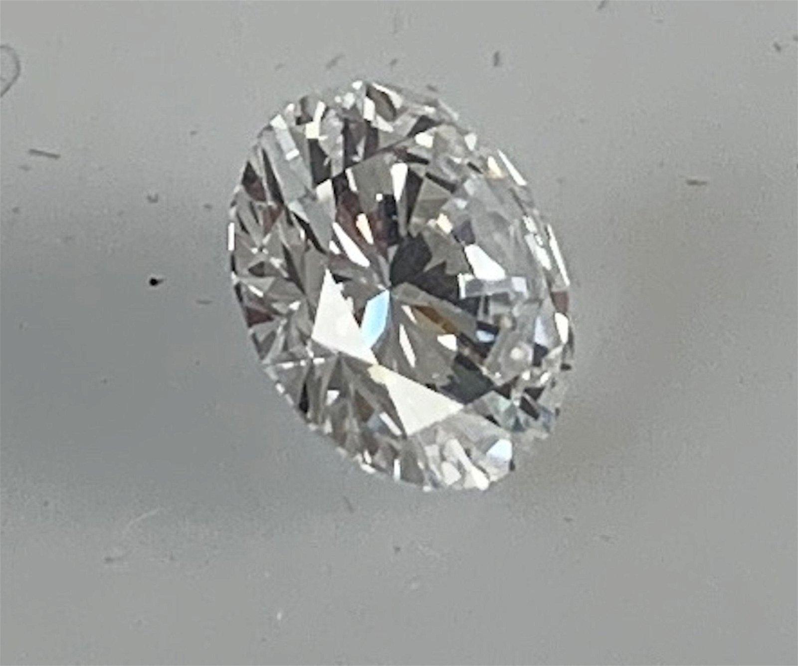 LOOSE DIAMOND ~ BRILLIANT ROUND DIAMOND MEASURING 1