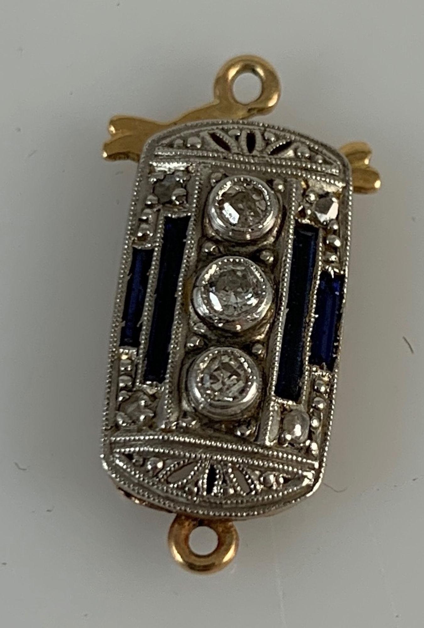 VINTAGE 18KT DIAMOND CLASP