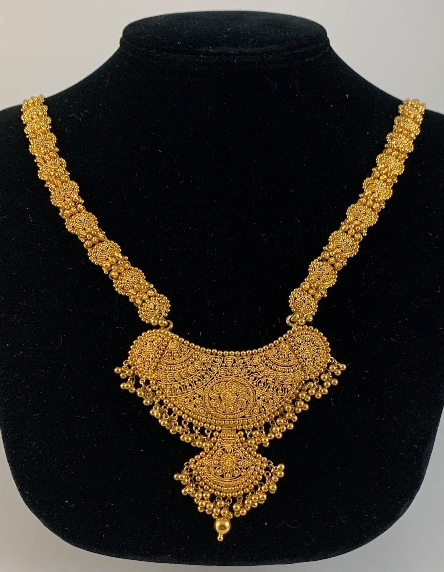HIGH KT INDIAN GOLD NECKLACE