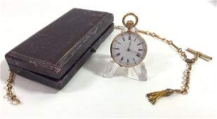 ONE GOLD POCKET WATCH WFOB IN BOX