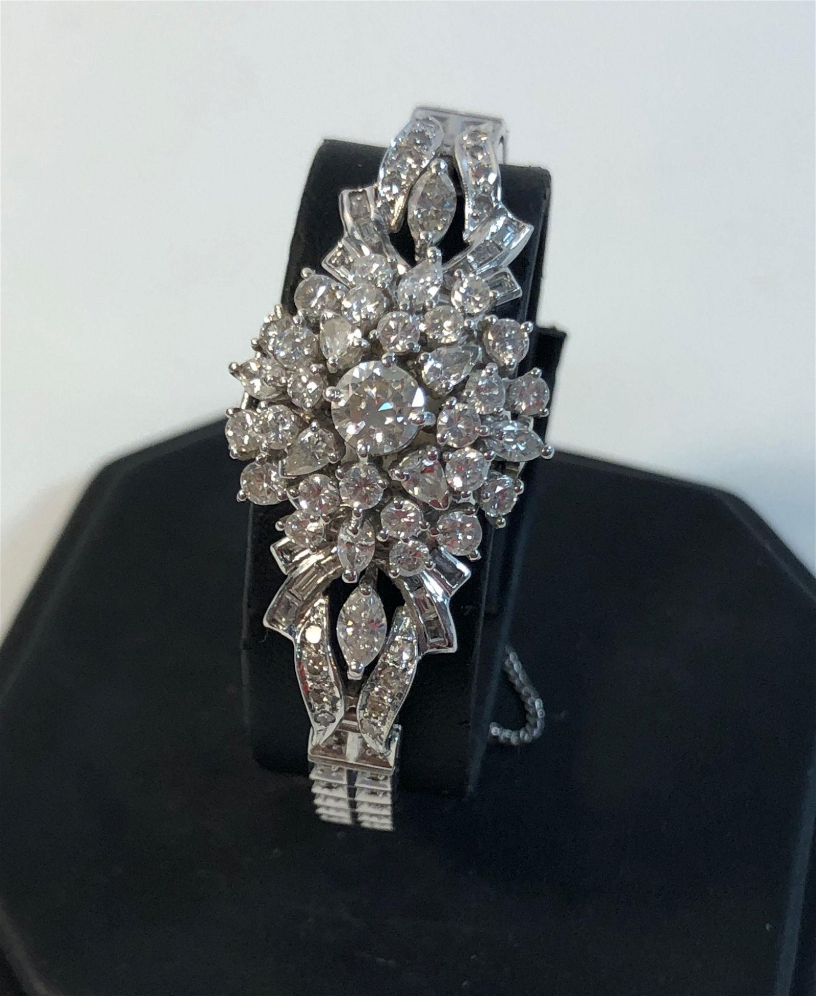 14KT WHITE GOLD AND DIAMOND LADIES WATCH ~ FROM