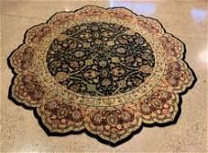 ORIENTAL RUG FINE INDO PERSIAN TABRIZ ROUND RUG