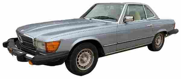 1983 MERCEDES MODEL 380SL CONVERTIBLE 2 SEATER ROADSTER