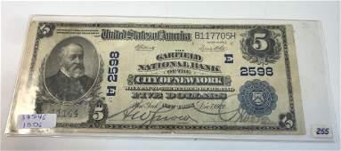 ANTIQUE UNITED STATES PAPER BILL