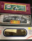 BOX LOT O GAUGE WILLIAMS RAIL KING AND MTH FREIGHT
