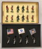 LOT 2 SETS BRITAINS SOLDIERS  5 PIECES US MILITARY