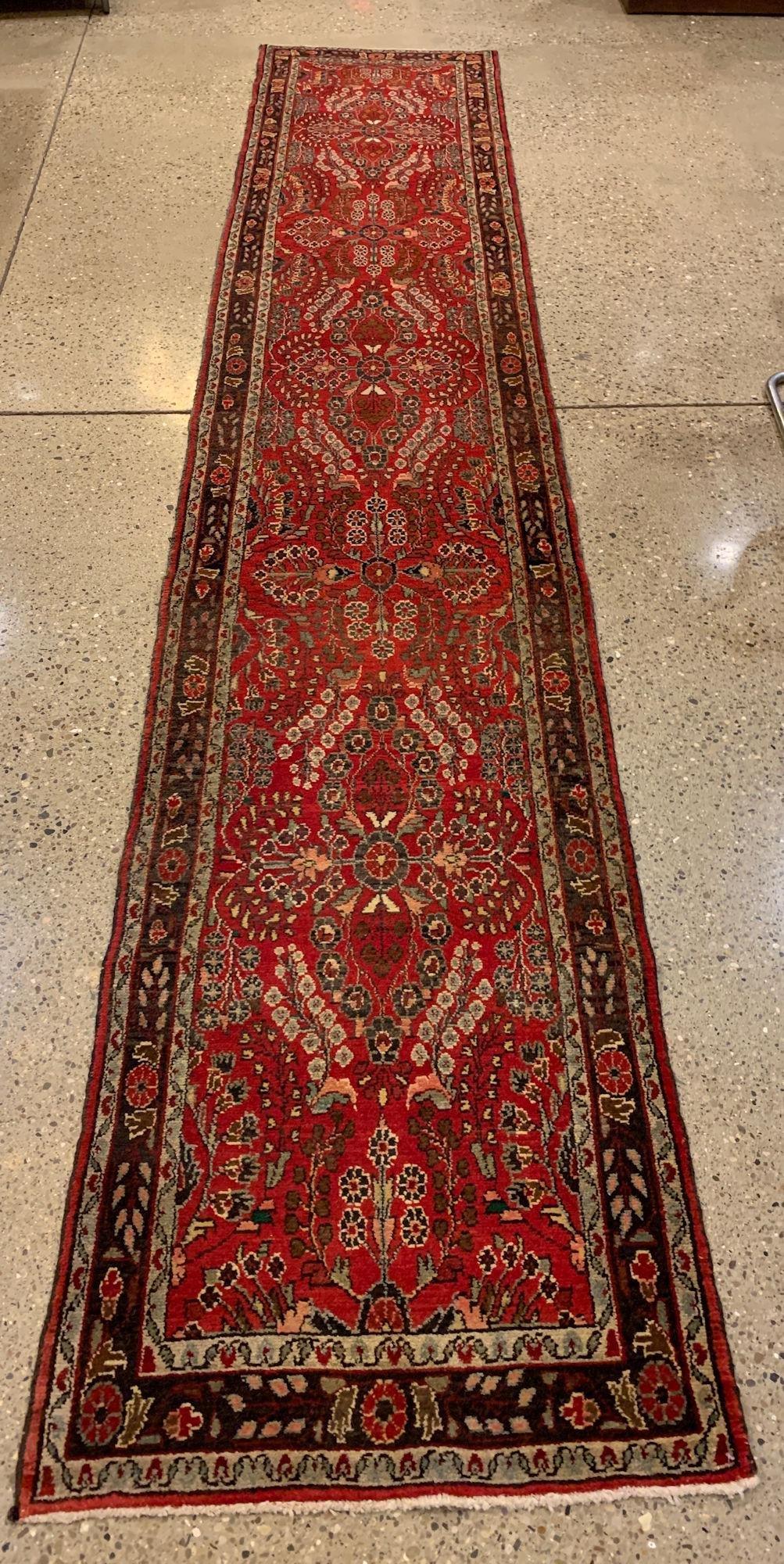 """ORIENTAL RUG PERSIAN LILIHAN RUNNER, 2'8"""" X 13'2"""""""