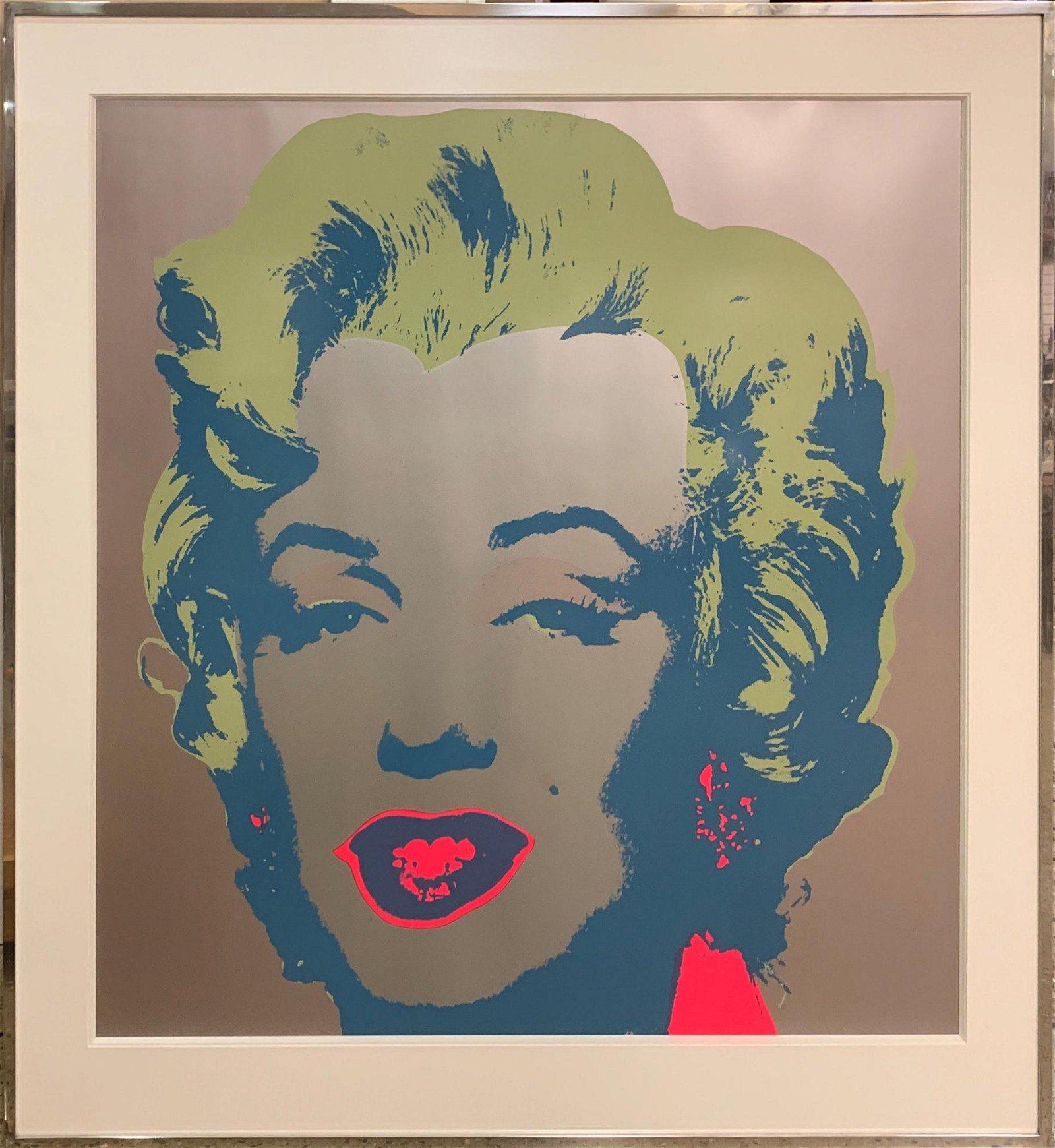 MARILYN MONROE POP ART ANDY WARHOL PRINT IN CHROME