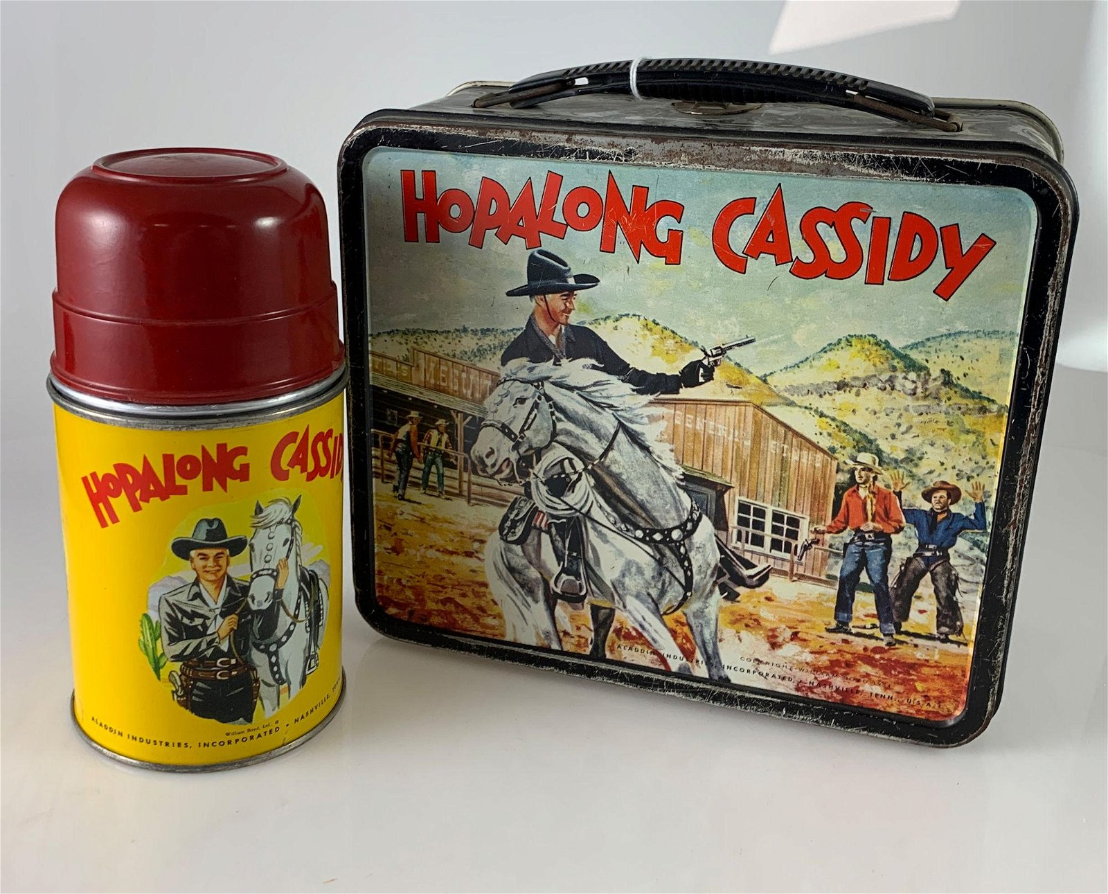 HOPALONG CASSIDY METAL LUNCH BOX  & THERMOS