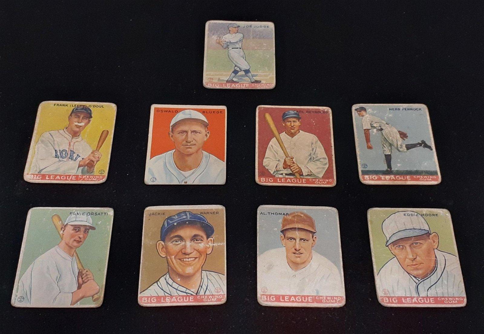 (10) 1933 GOUDEY BIG LEAGUE BASEBALL CARDS: 58. FRANK