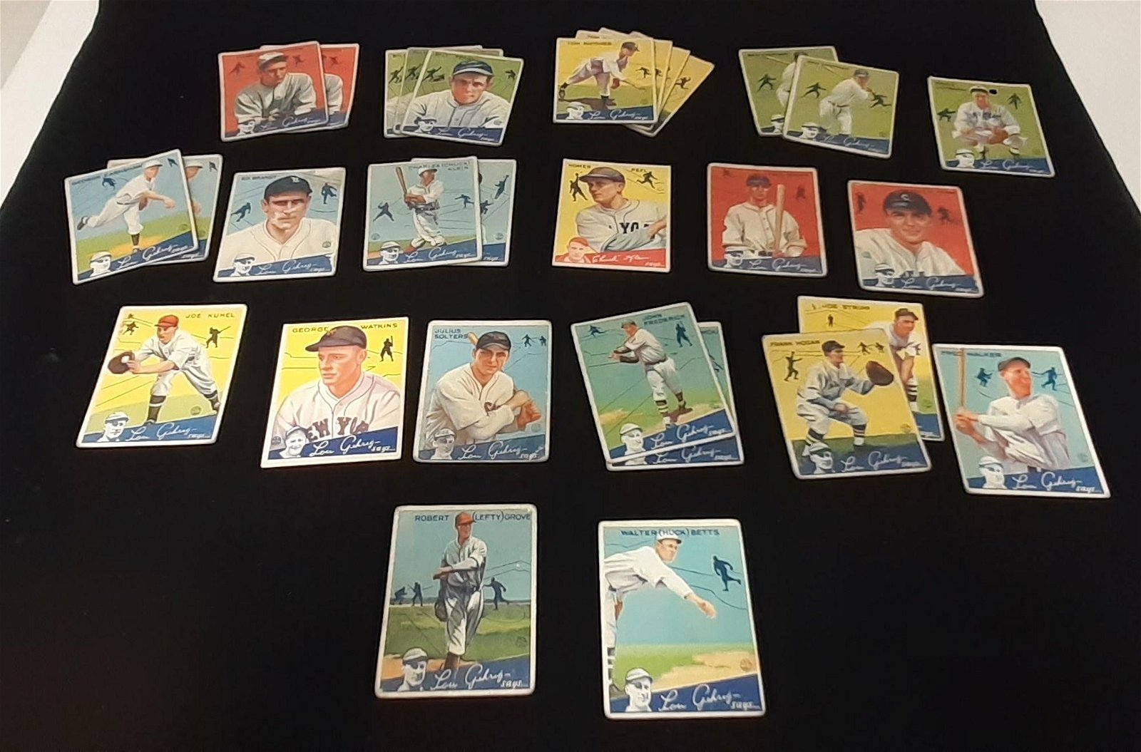 "(30) 1934 ""LOU GEHRIG SAYS..."" GOUDEY BIG LEAGUE"