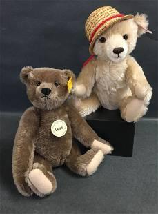 """(2) STEIFF MOHAIR TEDDY BEARS - 11"""" BROWN CLASSIC"""