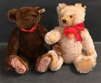 """(2) STEIFF MOHAIR TEDDY BEARS - 17"""" CHOCOLATE FROM THE"""