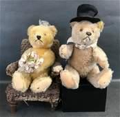 STEIFF VINTAGE ORIGINAL MOHAIR TEDDY BEAR BRIDE AND