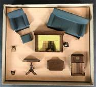 STROMBECKER WOOD DOLLHOUSE FURNITURE 451 LIVING ROOM