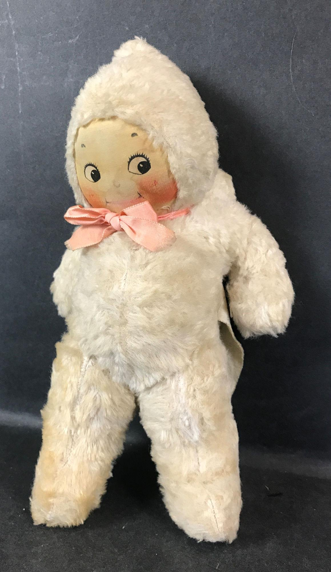 CLOTH MASK FACE KEWPIE BY RICHARD KREUGER. UNJOINTED