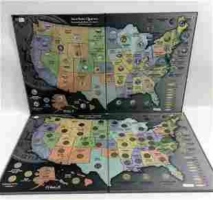 TWO SETS US STATE QUARTERS IN ALBUMS