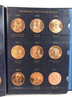 PRESIDENTIAL FIRST SPOUSE METALS IN ALBUM