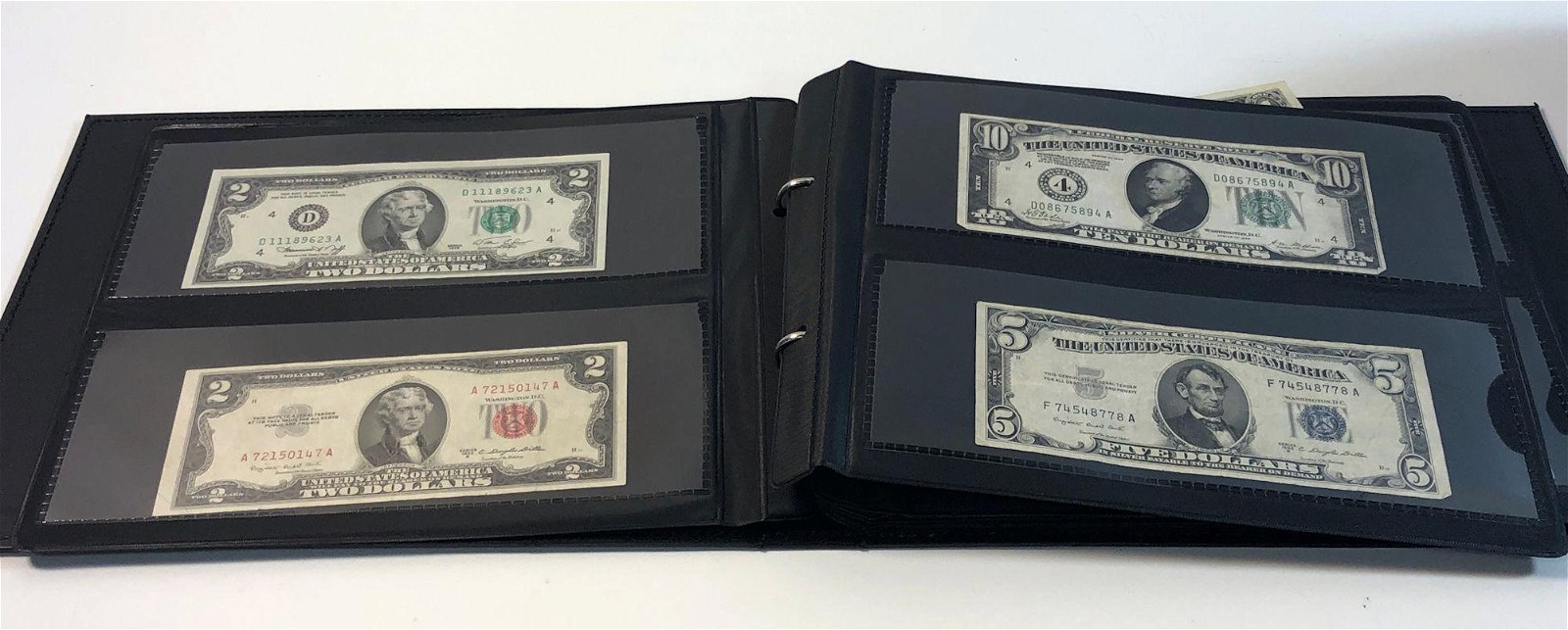U.S. AND FOREIGN PAPER CURRENCY IN ALBUM