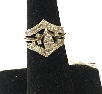 14KT WHITE GOLD AND DIAMOND BRIDAL SET