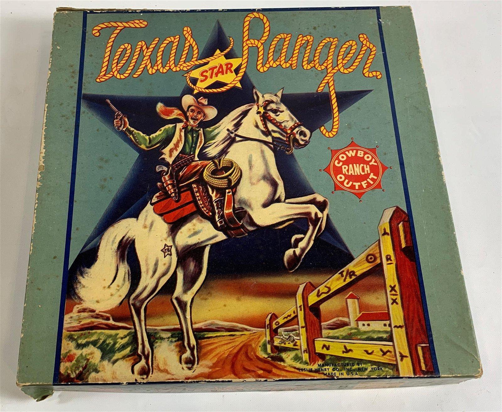 TEXAS RANGER COWBOY RANCH OUTFIT IN ORIGINAL BOX