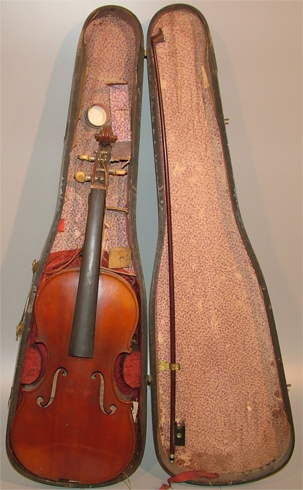 5007: GERONIMO BAMABETTI VIOLIN W/BOW IN CASE, MISSING