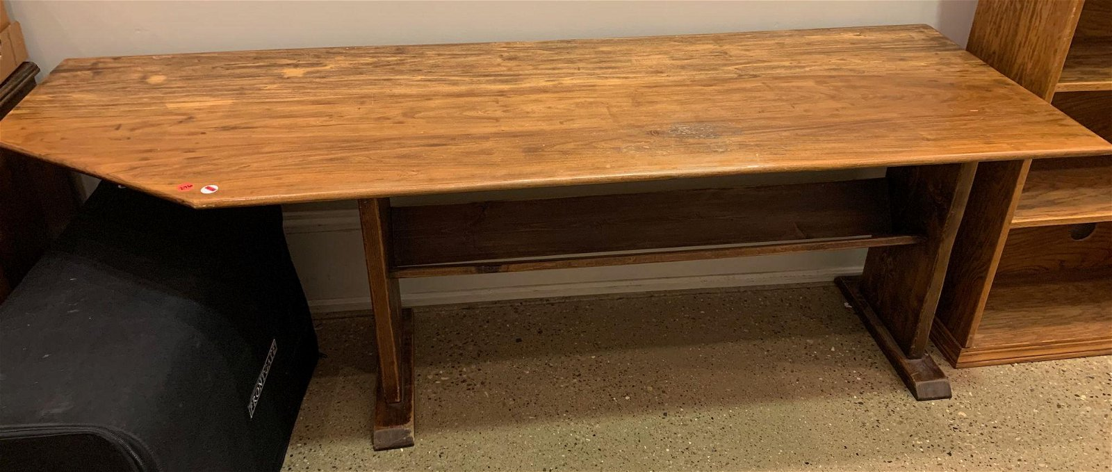 LARGE WOODEN SIDE TABLE