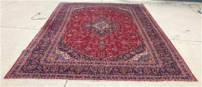 ORIENTAL RUG PERSIAN KASHAN RUG CIRCA 1970s 98 X