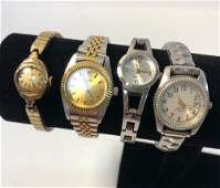 LOT OF FOUR WRIST WATCHES