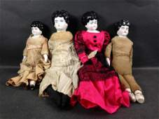 (4) LOW BROW CHINA HEAD DOLLS INCLUDING PET NAME