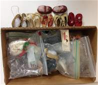 LOT OF DOLL SOCKS AND SHOES INCLUDING VINTAGE AND