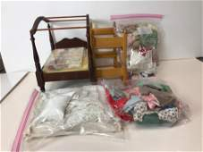 LOT OF VINTAGE DOLL ITEMS- CLOTHING AND ACCESSORIES