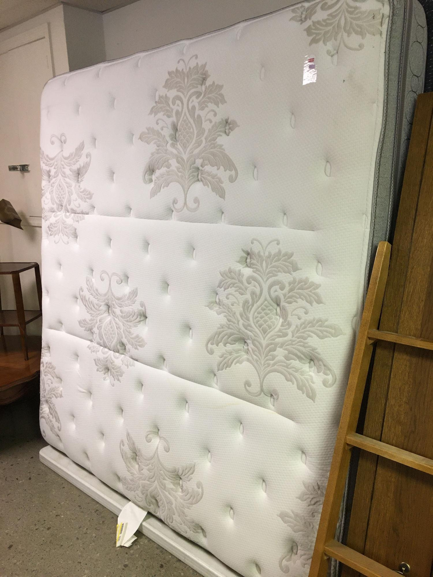 KING SIZE MATTRESS, HAS SOME STAINING