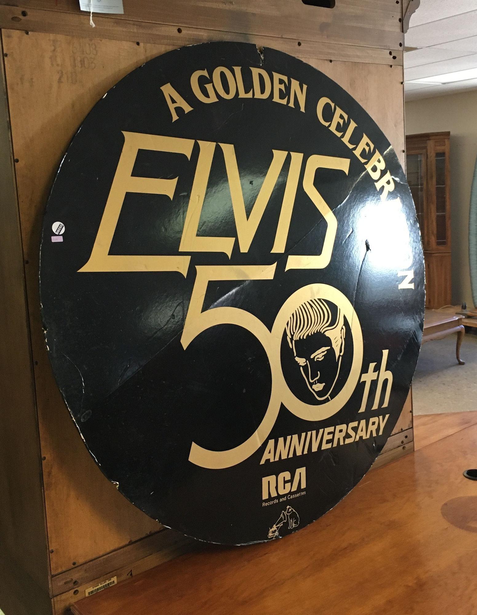 ELVIS 50TH ANNIVERSARY SIGN