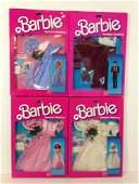 """(4) NRFB VINTAGE BARBIE """"ROMANTIC WEDDING"""" FASHIONS"""