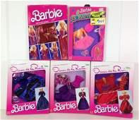 "(5) NRFB VINTAGE BARBIE FASHIONS INCLUDING ""BARBIE AND"