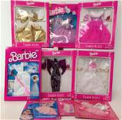 9 NRFB VINTAGE BARBIE AND SKIPPER FASHIONS INCLUDING