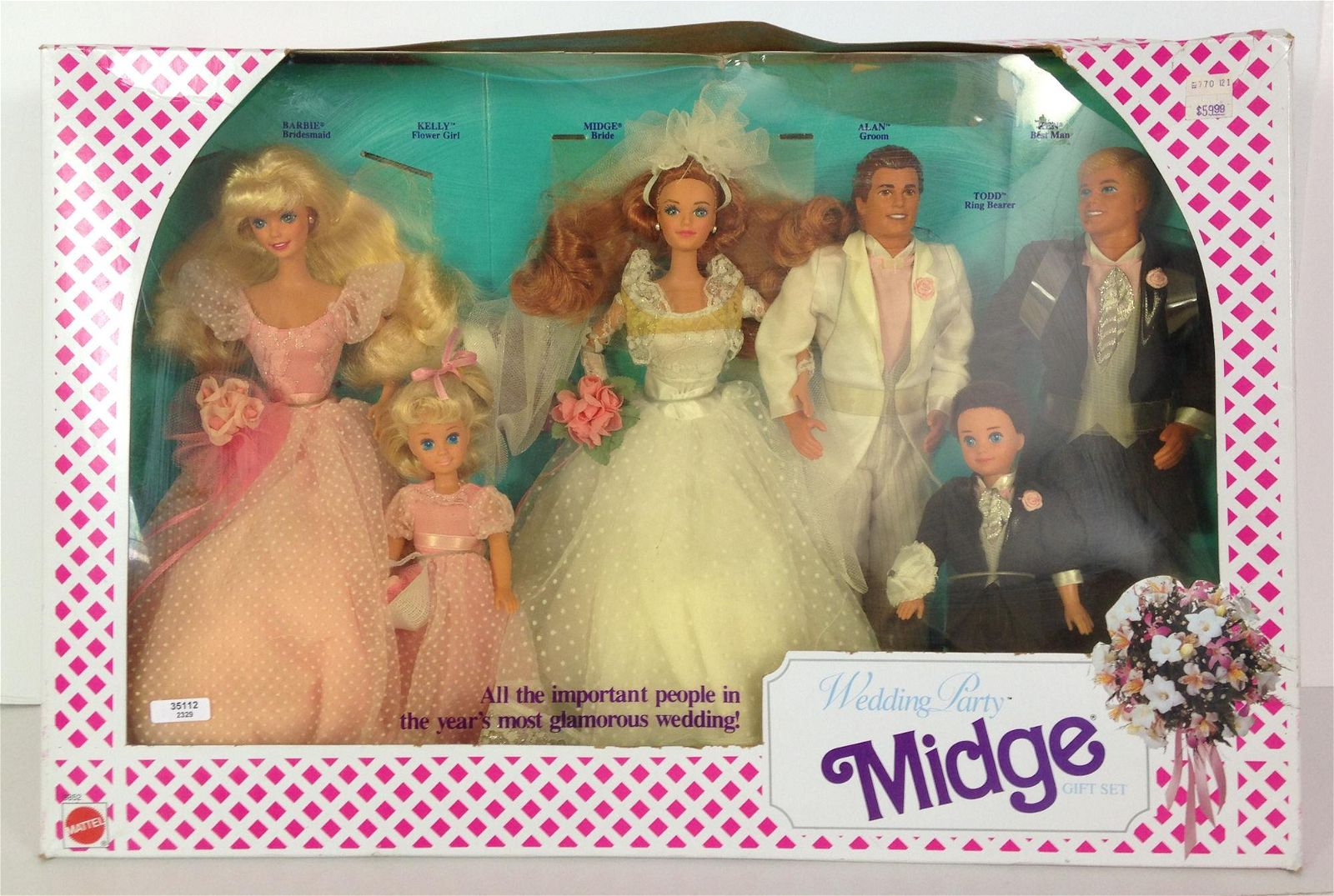 "NRFB VINTAGE ""WEDDING PARTY MIDGE"" GIFT SET."