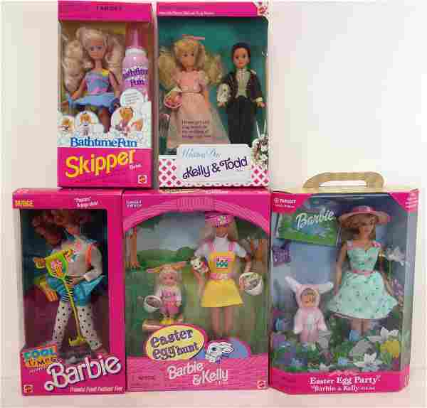 """(5) NRFB BARBIE AND FRIENDS INCLUDING """"WEDDING DAY"""""""