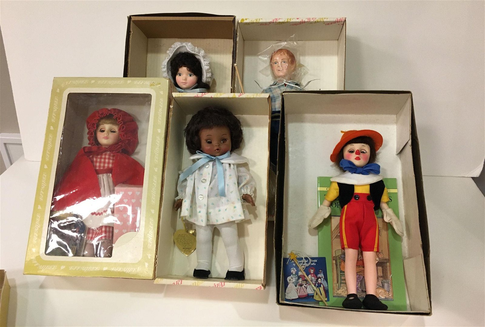 BOX LOT OF (6) BOXED EFFANBEE DOLLS INCLUDING