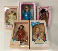 LOT (5) BOXED DOLLS INCLUDING IDEAL VINYL SHIRLEY
