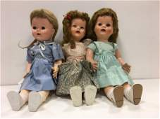 BOX LOT OF (3) DOLLS INCLUDING IDEAL SAUCY WALKERS