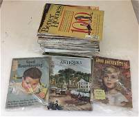 BOX LOT OF MAGAZINES INCLUDING 1950s GOOD