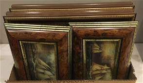 4 FRAMED PRINTS HUNT SCENES ARE 12 X 135 SHIPS ARE